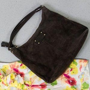 Kate Spade - New York Shoulder Brown Suede Leather